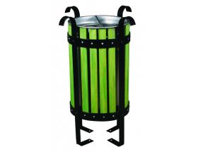 Ahşap Kaplamalı Lamalı Dış Mekan Çöp