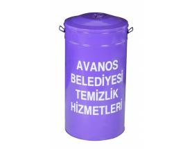 Kapaklı Seyyar Dış Mekan Çöp Kovası