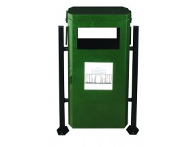 Profil İki Ayaklı Dış Mekan Çöp  Kova